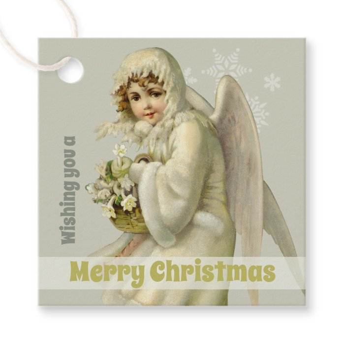 Christmas Sweet Victorian winter angel CC1189 Favor Tags