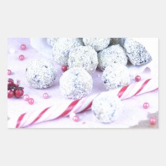 christmas sweets new year rectangular sticker