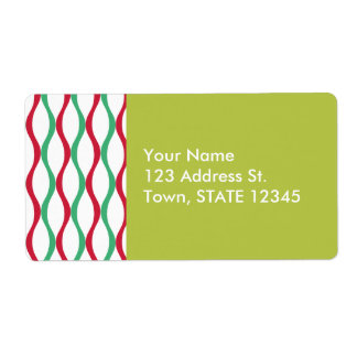 Christmas Swirl Pattern Label