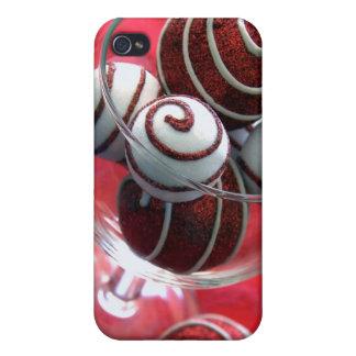 Christmas Swirls 4/4s iPhone 4 Covers