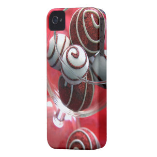 Christmas Swirls Barely There Case-Mate iPhone 4 Cases
