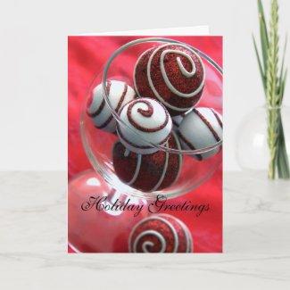 Christmas Swirls Greeting Card card