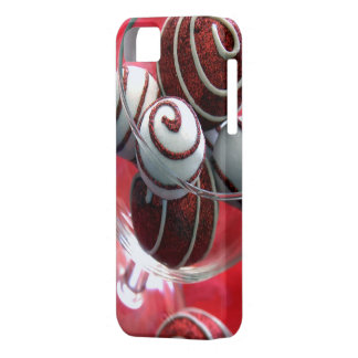 Christmas Swirls iphone 5 Barely There Case iPhone 5 Cases
