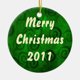 Christmas Swirls ornament