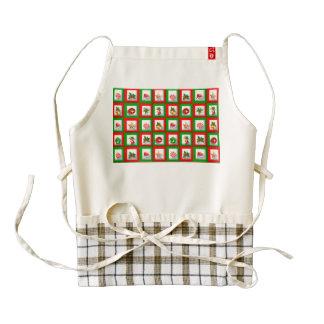 Christmas symbols illustration zazzle HEART apron