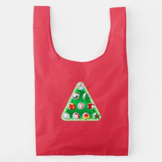 Christmas Symbols Reusable Bag
