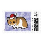 Christmas Syrian Hamster Postage