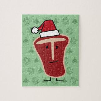 Christmas T-Bone Steak Jigsaw Puzzle