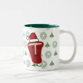 Christmas T-Bone Steak Two-Tone Coffee Mug