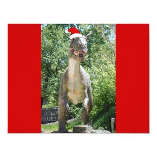 Christmas T-Rex Dinosaur 4.25x5.5 Paper Invitation Card