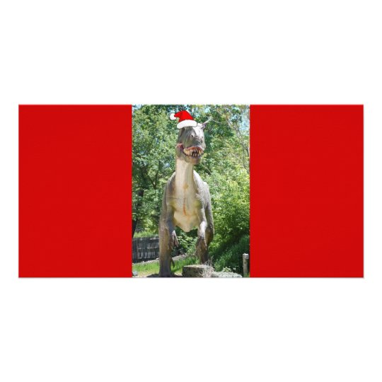 Christmas T-Rex Dinosaur Card