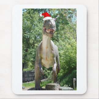 Christmas T-Rex Mouse Pad