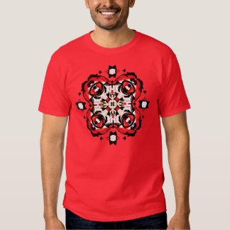 Christmas T-Shirt Elegant Ornament Red and Black