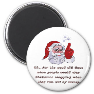Christmas T-shirts and Gifts with Santa Claus 2 Inch Round Magnet
