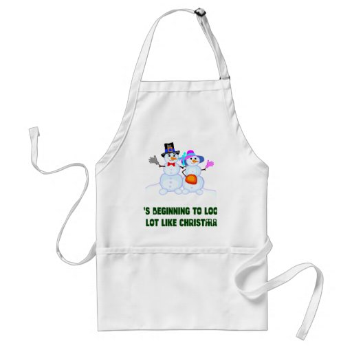 Christmas T-shirts and Gifts with Snowman Aprons