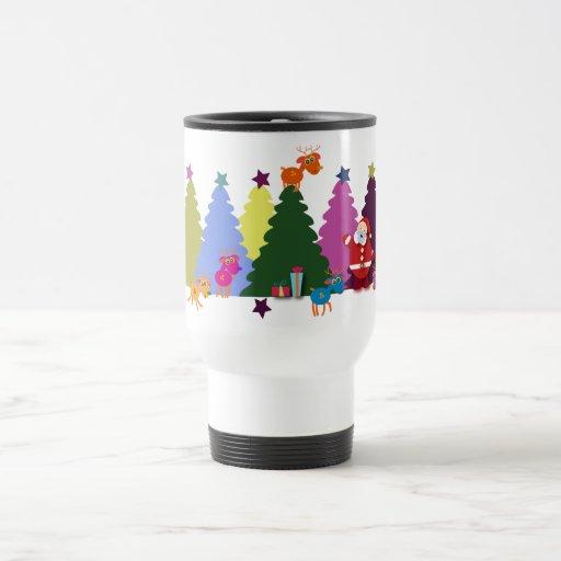 Christmas T-shirts: Santa and his deers Travel Mug