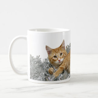 Christmas tabby coffee mug