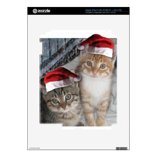Christmas Tabby Kittens iPad 3 Decal