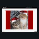 "Christmas Tabby Kittens Skins For Laptops<br><div class=""desc"">adorable cats in Santa Hats</div>"