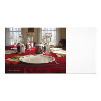 Christmas Table Photocard Card