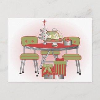 Christmas Table postcard