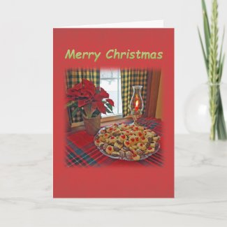 Christmas Table Setting with Freshly Baked Cookies Card