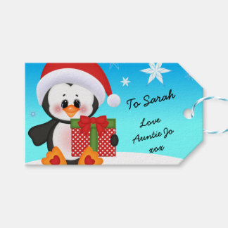 Christmas Tag Penguin Funny Cute