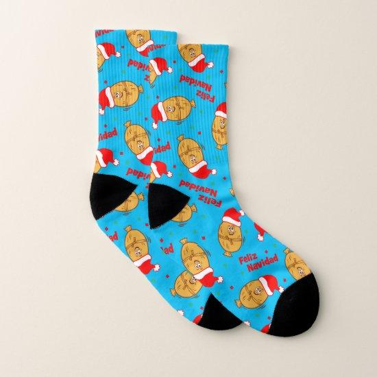 Christmas Tamales Pattern Socks