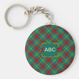 Christmas Tartan 3 Keychain