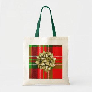 Christmas Tartan Bag with Bow