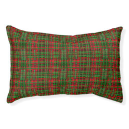 Christmas tartan dog bed