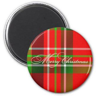 Christmas Tartan Magnet