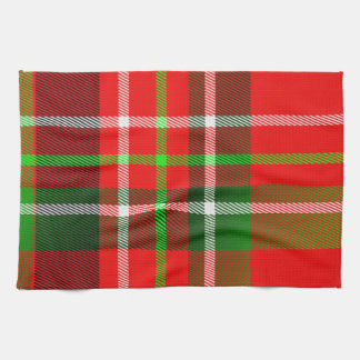 Christmas Tartan Pattern Kitchen Towels
