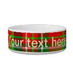Christmas Tartan Pet Bowls Cat Food Bowls
