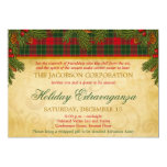 Christmas Tartan Plaid Corporate Holiday Party Personalized Invitation