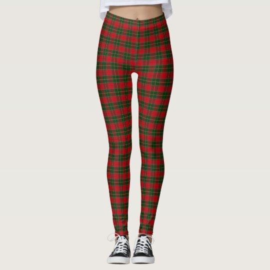 07fd5a7c8f007 Christmas Tartan Scottish Plaid Red Green Leggings | Zazzle.com