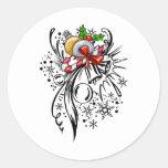 Christmas Tattoo Classic Round Sticker