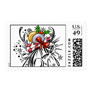 Christmas Tattoo Postage Stamps