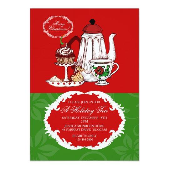 morning tea invitation template free - christmas tea invitation