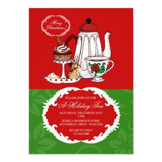 Christmas tea invitation for Morning tea invitation template free