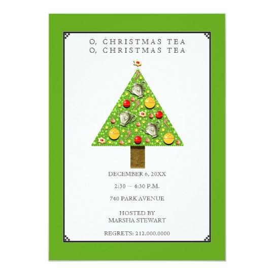 christmas tea invitations zazzle com