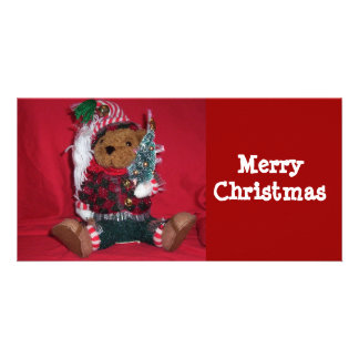 Christmas Ted Photo Card Template