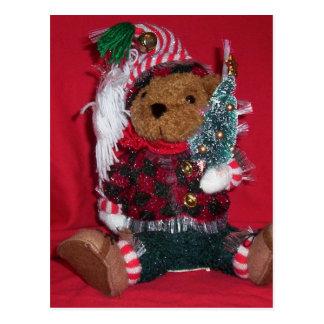 Christmas Ted Postcard