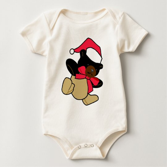 Christmas Teddy Bear Baby Bodysuit