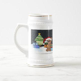 Christmas Teddy Bear Beer Stein