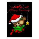 Christmas Teddy Bear Box Card