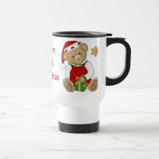 Christmas Teddy Bear - Boy Travel Mug