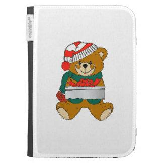 Christmas Teddy Bear Kindle Folio Case