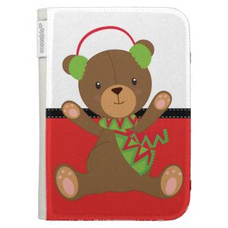 Christmas Teddy Bear Kindle 3G Cases