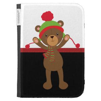Christmas Teddy Bear Kindle 3 Cases